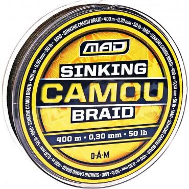 Тонущий шнур для рыбалки DAM MAD SINKING CAMOU BRAID 400 m 0,20 mm купить