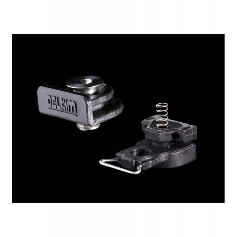 Быстросъемник для электронного сигнализатора Delkim D-Lok™ Quick Release System  COMPLETE  (SHOE + FOOT)