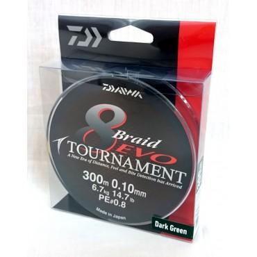 Плетеный шнур для рыбалки Daiwa Tournament 8 Braid Evo 0.30 mm 300 m купить