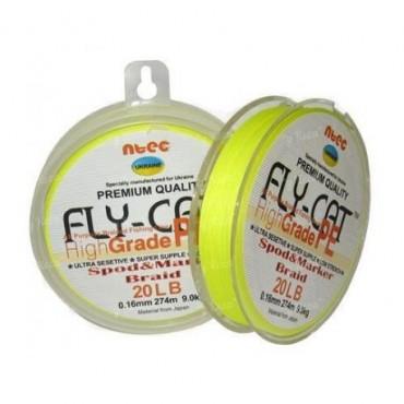 Шнур Spod&Marker NTEC FlyCat Yellow 274м, 0.16мм, 20lb 9.0кг