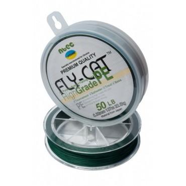 Шнур плетеный NTEC Fly-Cat Moss Green 274м, 0.32мм, 22.5кг